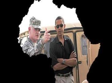 President Barack Obama with Africom Commander, General Carter F. Ham