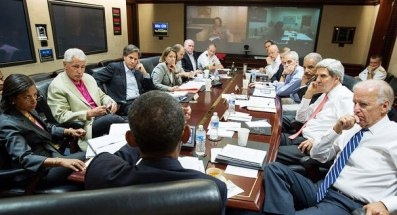 The US Regime leaders led by Barack Obama discusses the Overt and Covert Operations around the world in The Situation Room