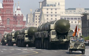 Russian Military vehicles move along Red Square in Moscow. (Photo: www.theatlantic.com)
