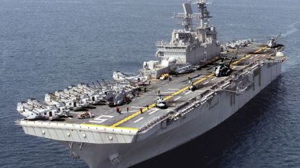 The US military has sent another warship to the Persian Gulf with 1,000 marines on board as tension is escalating in several Iraqi cities.(Photo:USS Bataan www.presstv.ir)