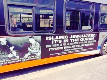 Islamophobes are fabricating the myth that Islam promotes Jew-hatred by taking out ads on D.C. buses.