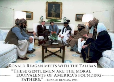 "After the fall of the Soviet Union, former US President Ronald Reagan said that America had eliminated the red enemy, referring to Communism, and that it was time to eliminate the ""green enemy"", a reference to Islam."